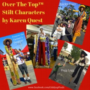 Over the Top Stilt Characters